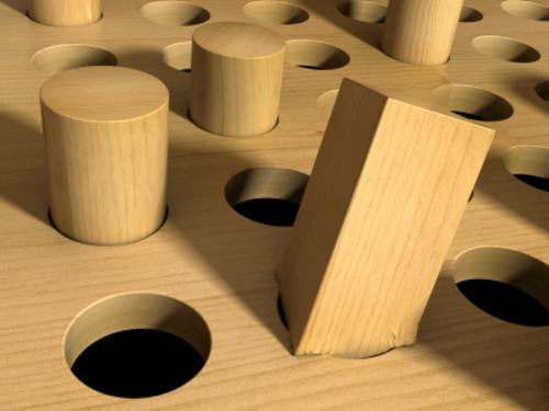 Square peg in a round role