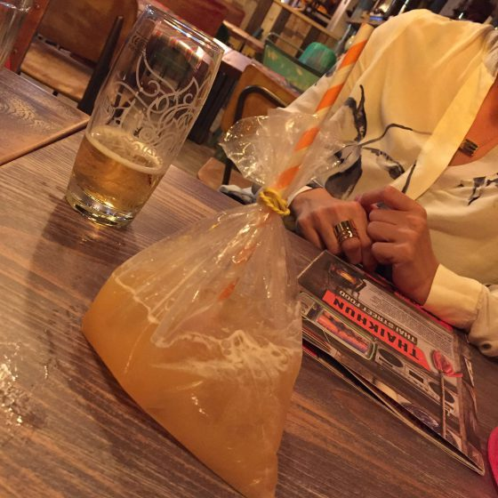 A 'Street Sipper' literally came in a plastic bag!