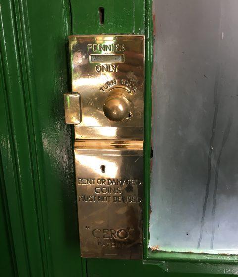 Vintage toilet lock