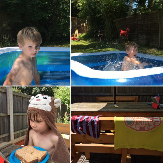 A pool? A monkey towel? Clothes hanging in the sun to dry? We could have almost been on actual holiday!