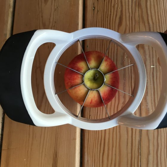 My latest kitchen gadget, my apple slicer and corer.