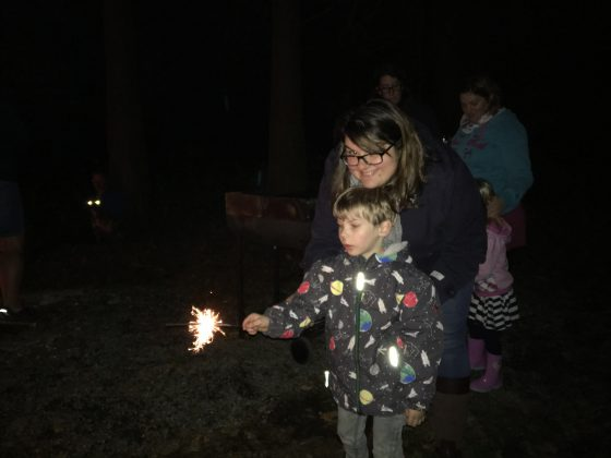 "Oscar's first sparkler. I held his hand until he said, ""no mummy I do it"" !"
