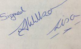 Signed L J Willson