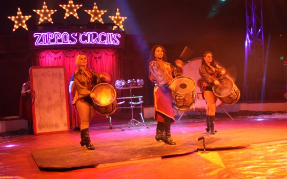 Argentinian drummers at the circus